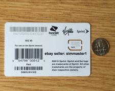 Sprint Nano Sim card for Samsung Galaxy S8, S8+, Note 7, 8, Tab A, SIMOLW416Q