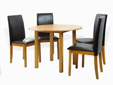 Dining Kitchen 5 Pcs SET Round Table 4 Fallabella Chairs, Maple
