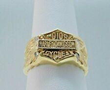 14k Yellow Gold Harley Davidson Motorcycles .50 CTW Diamonds Ring CA0205