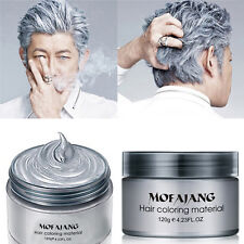 Silver Ash Hair Color Wax 120ml Temporary Gray Hair Wax Easy Grey US Shipping