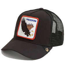"Goorin Bros. Animal Farm Trucker Snapback Hat Cap All Black/""Freedom"""