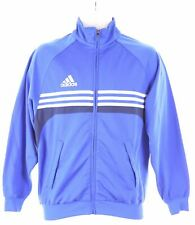 ADIDAS Boys Tracksuit Top Jacket 13-14 Years Blue Polyester  NG02