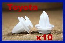 10 Toyota Los paneles interiores cubierta Fundicion Puerta Moldura Tablero Sujetador Clips