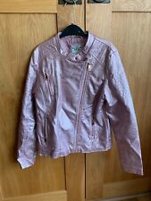 Girls Marks & Spencer's Rose Pink Faux Leather Jacket Age 13 -14 EU 164 cm