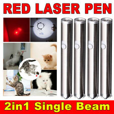 4 Pack 2in1 900Miles Red Laser Pointer 650nm Visible Beam Mini Led Torch Pet Toy