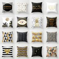 Gold Marble pineapple Polyester pillows case throw sofa cushion cover Home Decor