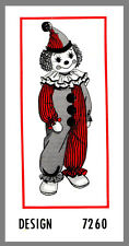 Doll  Mail Order CLOWN Doll W / Clothes Fabric Material sewing pattern #7260