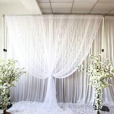 Ceiling Draping Sheer Chiffon Voile Drape Panel Backdrop Wall Divider Wedding US