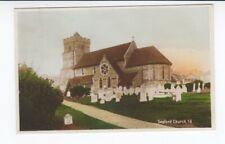 Postcard. Seaford Church. Real Photo. Hand Coloured.