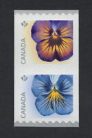 PANSY = PANSIES = Coil Pair Type I = MNH Canada 2015 #2811a