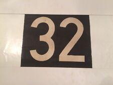 "Scottish Linen Bus Destination Blind Number - 13"" x 10 1/2"" - 32 Thirty Two"