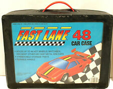 Fast Lane Car Case w/48 Matchbox Superfast Diecast Miliary Rescue Travel Trucks