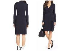 SZ 6 Diane von Furstenberg DVF Black New Jeanne Two Matte Jersey Wrap Dress