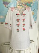 Vintage Blogger Embroidered Floral Festival Smock Today.