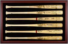 Baseball Bat Display Case with Mahogany Frame for 6 Bats - Fanatics