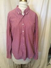 J Crew Long Sleeved Red Checked Large Women's Unisex