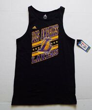 Adidas NBA Los Angeles Lakers Tank Top Youth Size Med 10-12 Black SuperStar