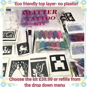 Glitter Tattoo KIT 396 large 30 mini OR REFIL PRODUCTS