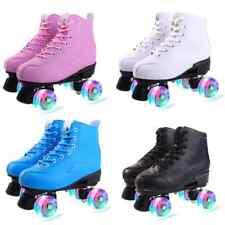 Skating Skates Shoes Boot Roller Four Wheels Lights Men Women  size 8 9 10 11 12