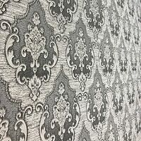 Wallpaper Victorian damask pattern wall coverings textured rolls gray damask 3D