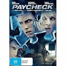 PAYCHECK - BRAND NEW & SEALED R4 DVD (BEN AFFLECK, UMA THURMAN, AARON ECKHART)