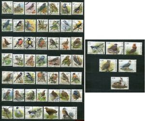 Z_1 Belgium birds 53 used stamps fauna collection Combined payments & shipping