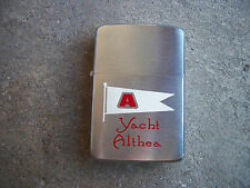 vintage 1960 Yacht Althea club Advertiser Zippo Lighter