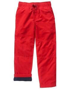 NWT Gymboree Boys Pull on Pants Fleece lined RED gymster size 2T,3T,10