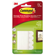 "Command Picture Hanging Removable Interlocking Fasteners 5/8"" x 2 1/8"" Set of 4"
