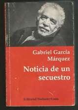 Gabriel Garcia Marquez Book Noticia De Un Secuestro 1996
