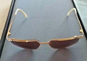Vintage Cazal Model 957 Gold & White Sunglasses Custom Lenses Made In Germany
