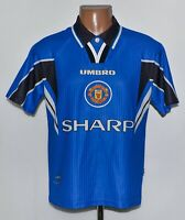 MANCHESTER UNITED 1996/1997/1998 THIRD FOOTBALL SHIRT JERSEY UMBRO SIZE Y(XS)
