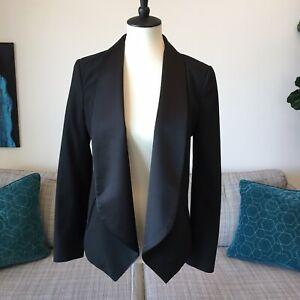 Michael Kors Satin LapelTuxedo Blazer Smoking Jacket Open Front Sz Small
