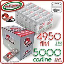 5000 Cartine ENJOY FREEDOM SILVER CORTE +  4950 Filtri POP FILTERS SLIM Ruvidi