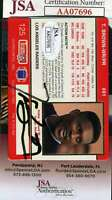 Tim Brown JSA Coa Autograph 1992 Action Packed Hand Signed