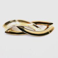 Givenchy Bar Pin Brooch Mid Century Modern Gold Tone Vintage