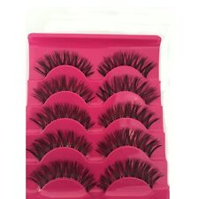 5 Pairs  Soft Cross False Fake Eyelashes Eye Lashes Extension Handmade Black