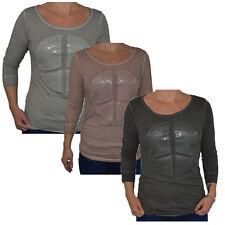 3/4 Arm Damen-T-Shirts aus Baumwolle