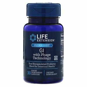 FLORASSIST® GI with Phage Technology Life Extension  30 caps Ultimate Probiotic