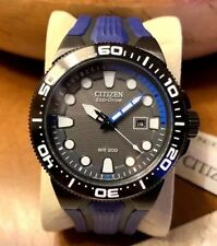 Citizen Eco-Drive Men's BN0097-02H Solar Dive Watch Day Date Water Resist 20BAR