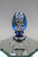 Fenton EGG Favrene BLUE n ORCHID WILDFLOWERS Pearl Center OOAK FREEusaSHP