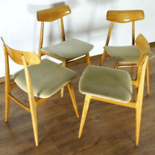 SET 4x 50er 60er HABEO DINING CHAIR STUHL VINTAGE DESIGN DANISH OPTIK (7077)
