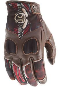 Highway 21 Womens Motorcycle Touchscreen Leather Vixen Gloves S-2XL