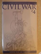 "Civil War Issue 4 ""Michael Turner Sketch"" 1 In 75 Variant - 2007"