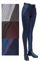 Comfy Gallop Ladies Classic Check Cotton Lycra Horse Riding Jodhpurs All Sizes