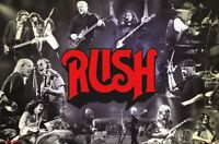 RUSH - THROUGH THE YEARS - CONCERT COLLAGE POSTER - 22x34 - MUSIC 17097