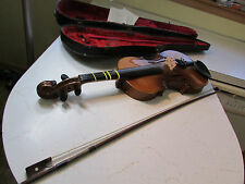 "Vtg OId Antique 23 1/2"" Tiger Maple Violin, No Label, Numbers in Pencil Inside"