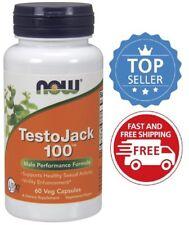 Now Foods TestoJack 100, 60 Veg Capsules, Male Performance Formula
