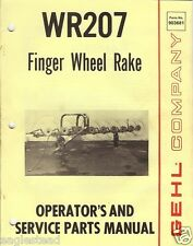 Farm Manual - Gehl - WR 207 - Finger Wheel Rake - Operator - 1985 (FM182)