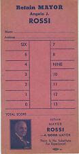 1940s Political Voting Card Retain Mayor Rossi San Francisco